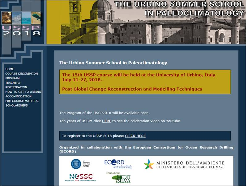 USSP - Urbino Summer School in Paleoclimatology